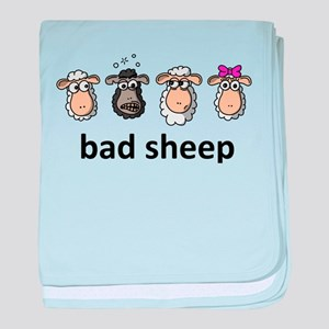 Bad sheep baby blanket