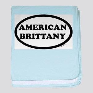 American Brittany Breed Oval baby blanket