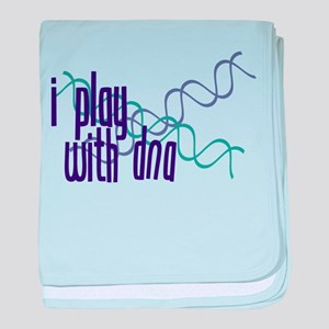 I Play with DNA baby blanket
