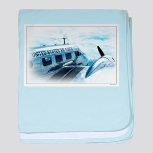 Vintage Aircraft baby blanket