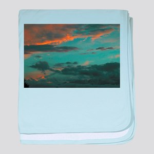 Sunset Storm Clouds baby blanket