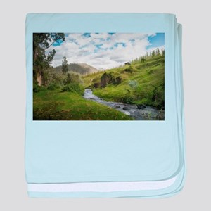 Hillside Pasture with Babbling Brook baby blanket
