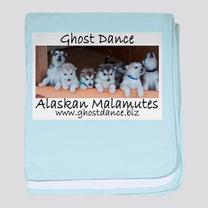 Ghost Dance Alaksan Malamute puppies baby blanket