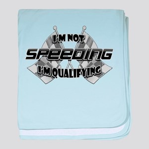 I'm Not Speeding baby blanket
