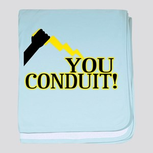 You Conduit baby blanket