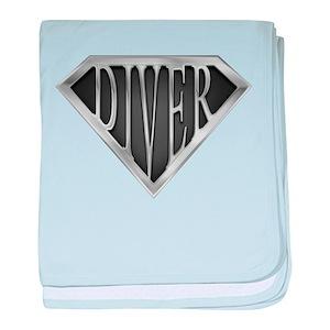 SuperDiver(metal) baby blanket