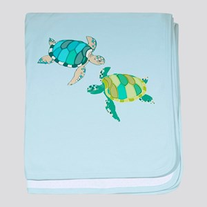 Sea Turtles baby blanket