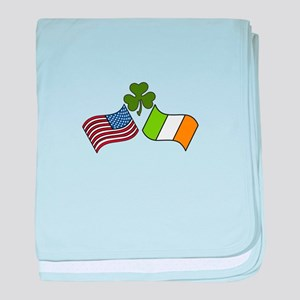 American Irish Flag baby blanket
