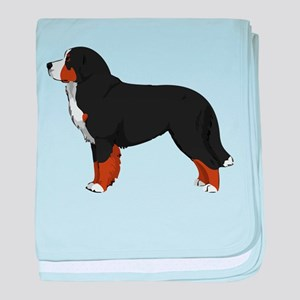 Bernese Mt Dog baby blanket