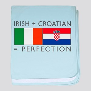 Irish Croatian flags baby blanket