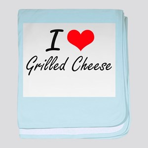 I love Grilled Cheese baby blanket