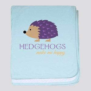 Happy Hedgehogs baby blanket