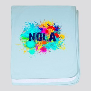 Good Vibes NOLA Burst baby blanket