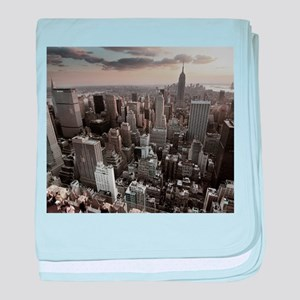 New York Skyscraper Vintage baby blanket