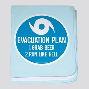 Hurricane Evacuation Plan baby blanket