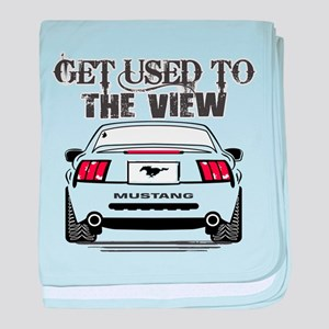 ford mustang baby blanket