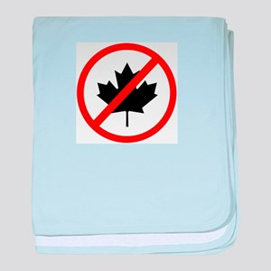 Anti Canadians baby blanket