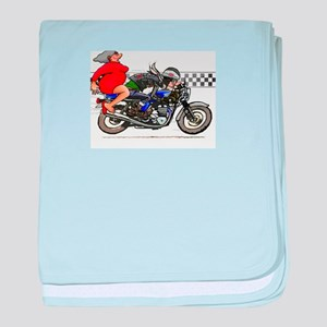 Motorcycle Rider and Mother in Law baby blanket