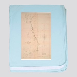 Vintage North Carolina and Virginia C baby blanket