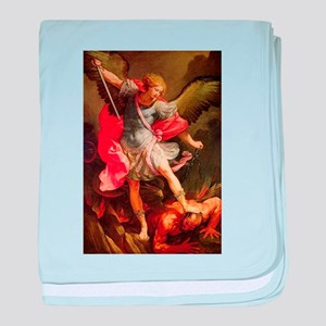 Archangel Michael Defeating Satan baby blanket