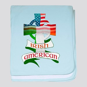 Irish American Celtic Cross baby blanket