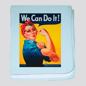 We Can Do It baby blanket