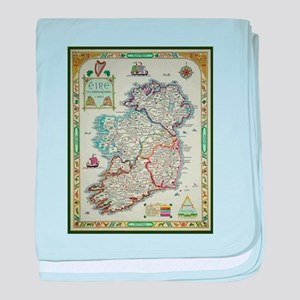 Ireland Map - Irish Eire Erin Histori baby blanket