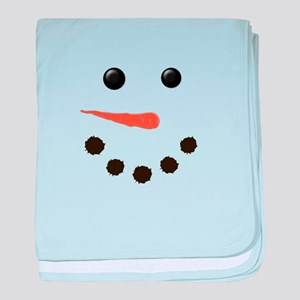 Cute Snowman Face baby blanket