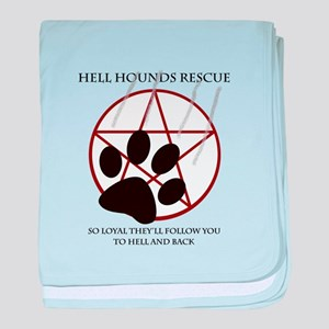 Hell Hounds Rescue wt baby blanket