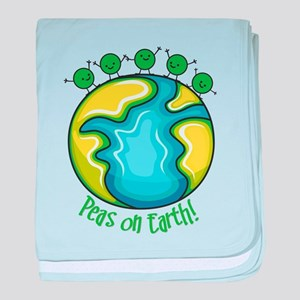 Peas on Earth baby blanket