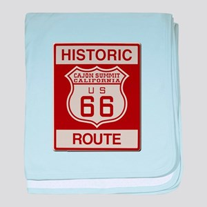 Cajon Summit Route 66 baby blanket