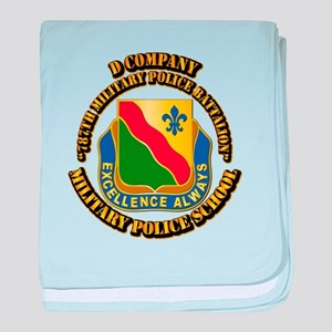 DUI - D Company - 787th MPB w Text baby blanket
