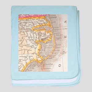Vintage Map of The Outer Banks (1818) baby blanket