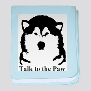 Talk to the Paw baby blanket
