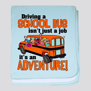 Driving a School Bus Infant Blanket