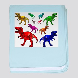 077cc34faf3db Rainbow Dinosaur Baby Blankets - CafePress