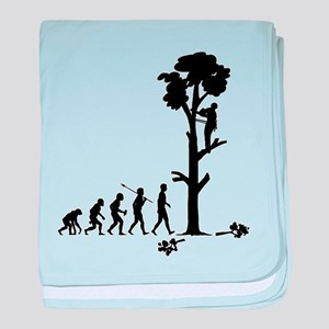 Tree Trimmer baby blanket
