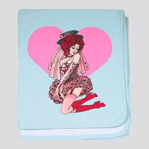 Pink Cotton Candy Cabaret baby blanket