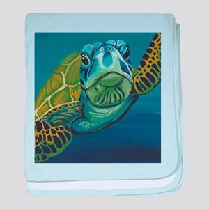 Marine Sea Turtle baby blanket