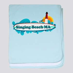 Singing beach MA. baby blanket