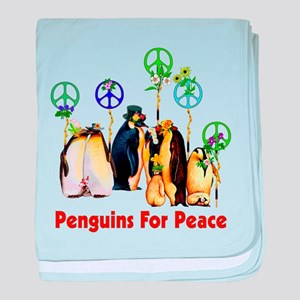 Penguins For Peace baby blanket