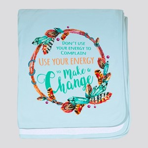 Make a Change Wreath baby blanket