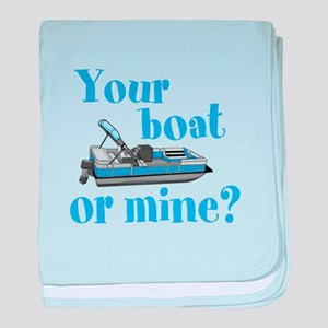 Your Boat or Mine? baby blanket