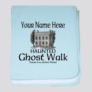 Haunted Ghost Walk baby blanket
