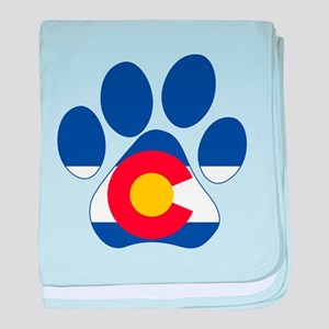 Colorado Paws baby blanket