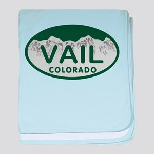 Vail Colo License Plate baby blanket