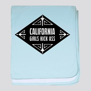 California Girls Kick Ass baby blanket