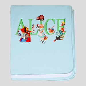ALICE AND FRIENDS baby blanket