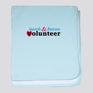 Search Rescue volunteer baby blanket
