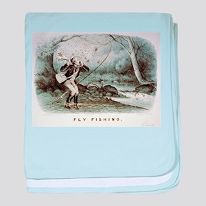 Fly fishing - 1879 baby blanket